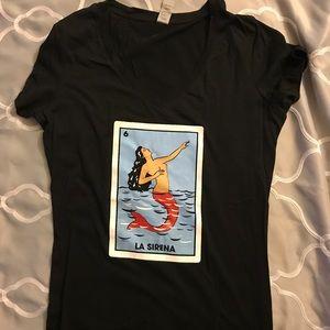 Tops - Black 'La sirena' T-Shirt